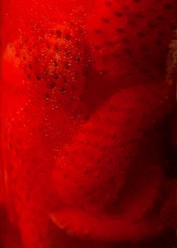 thyme simple syrup soaked strawberries